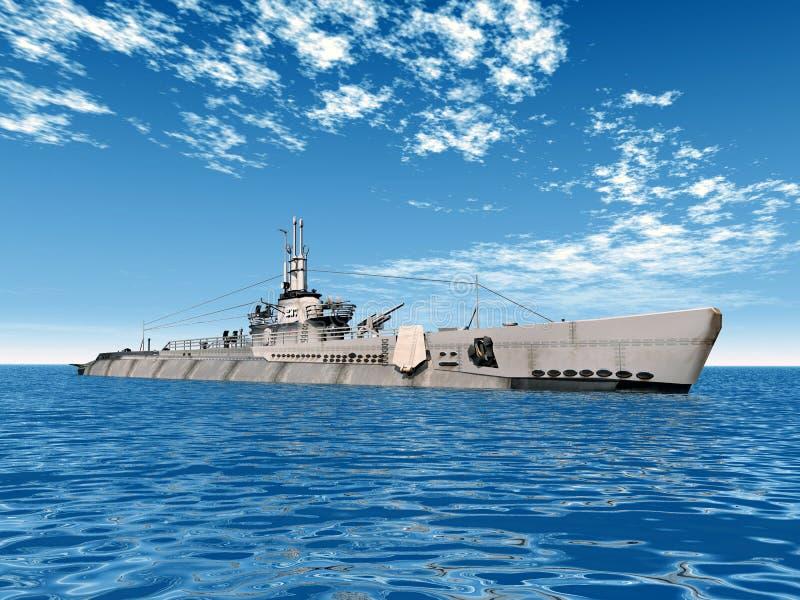 Disparador submarino de USS ilustração do vetor