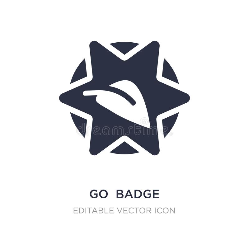 disparaissent l'icône d'insigne sur le fond blanc Illustration simple d'élément de notion générale illustration stock