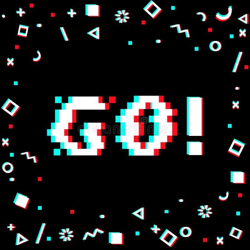 Disparaissent la bannière de pixel illustration libre de droits