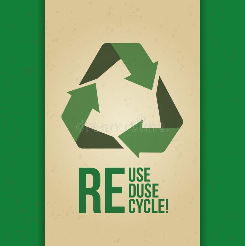 Disparaissent la conception verte illustration libre de droits