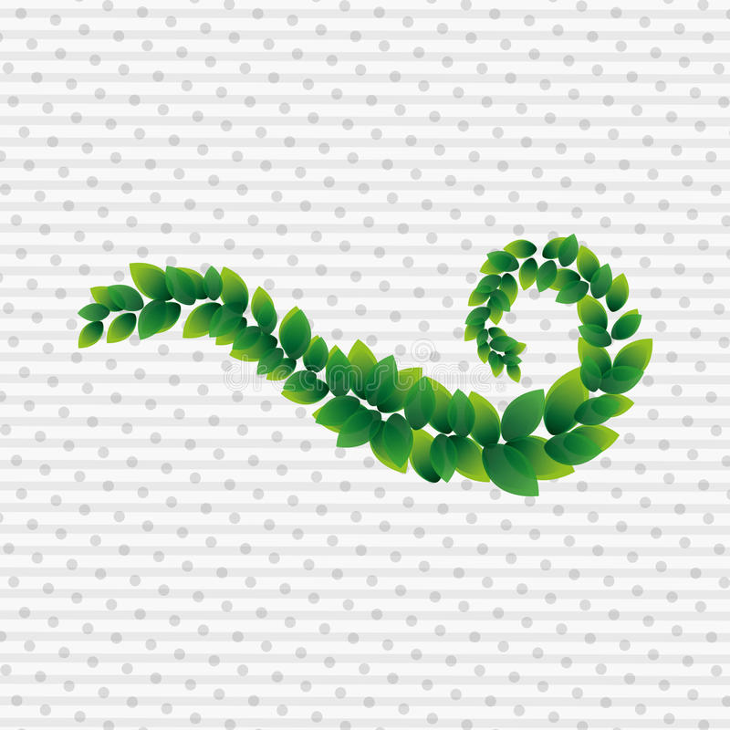 Disparaissent la conception verte illustration stock
