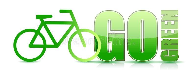 Disparaissent la conception verte d'illustration de signe de vélo illustration de vecteur