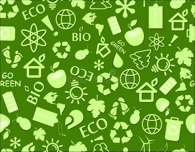 Disparaissent la configuration sans joint d'eco vert illustration libre de droits