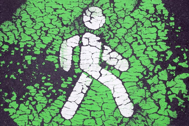 Disparaissent le concept vert et piétonnier prioritaire images libres de droits