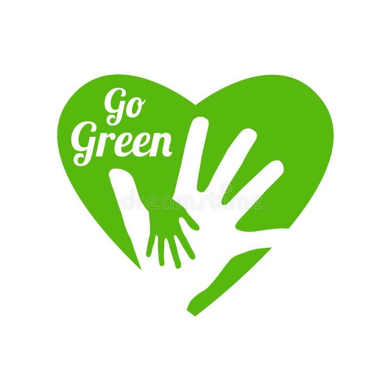 Disparaissent le logo vert illustration libre de droits
