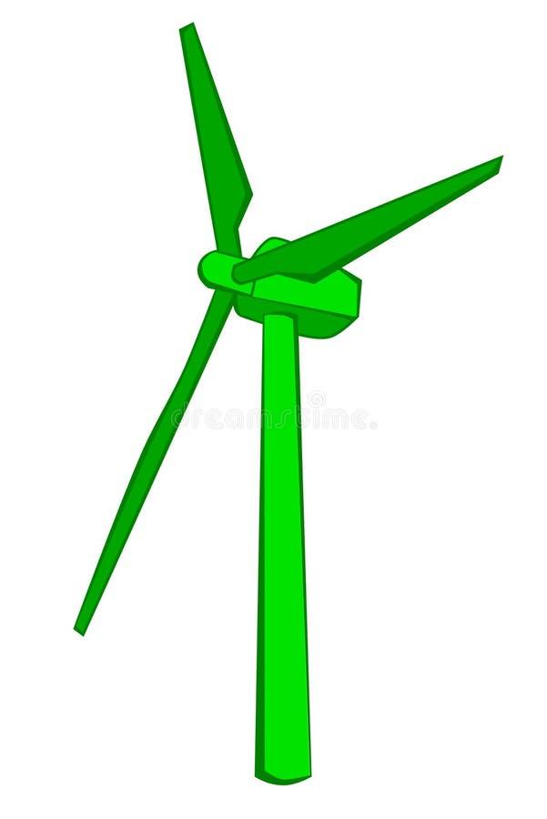 Disparaissent le moulin à vent vert illustration libre de droits