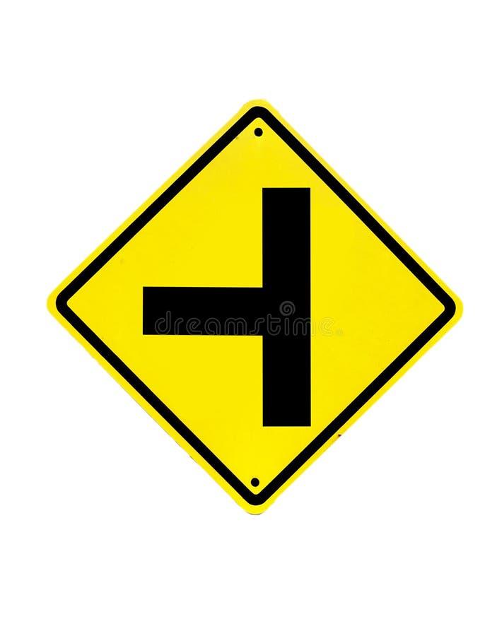 Disparaissent le poteau de signalisation droit images stock