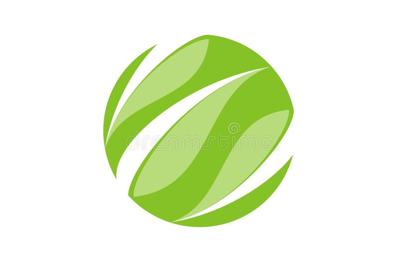 Disparaissent le vert avec la feuille image stock