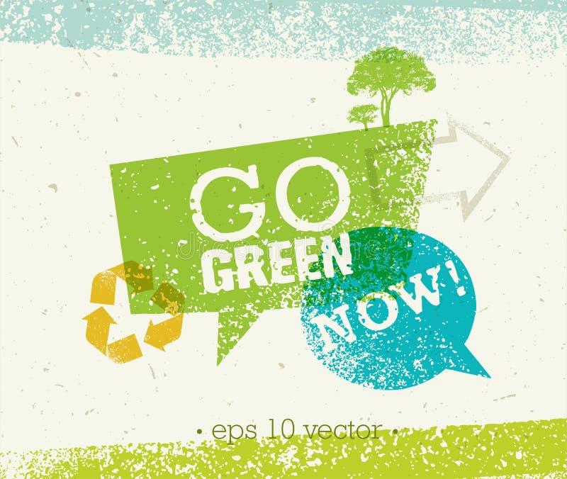 Disparaissent le vert réutilisent réduisent le concept d'affiche d'Eco de réutilisation Illustration organique créative de vecteu illustration stock