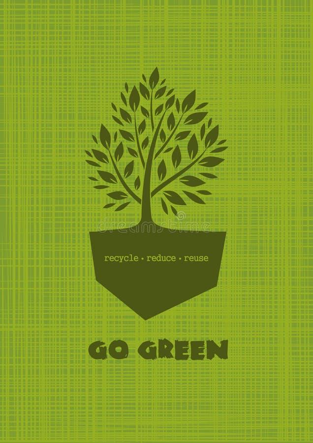 disparaissent le vert Recycle réduisent la réutilisation Conception de LOGO illustration libre de droits