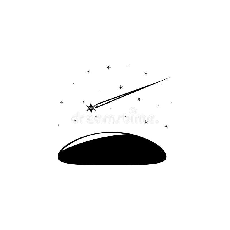 disparar protagoniza no ícone do céu Elemento do ícone das estrelas Projeto gráfico da qualidade superior Sinais e ícone da coleç ilustração stock