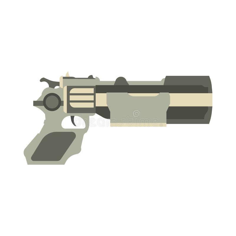 Dispare contra la pistola futurista del espacio del laser del juego del arenador del ejemplo del vector del arma ilustración del vector
