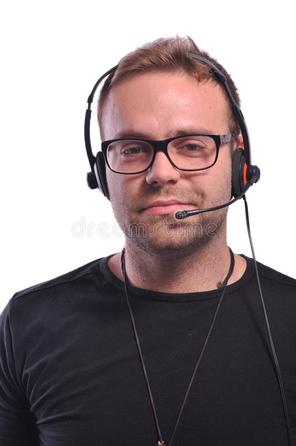 Dispatcher with glasses stock photo
