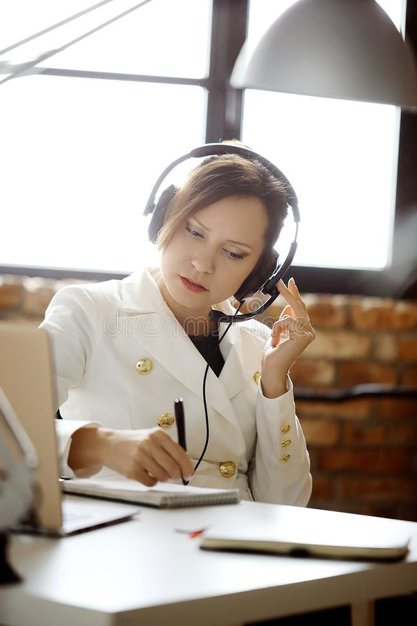 Dispatcher at work royalty free stock images