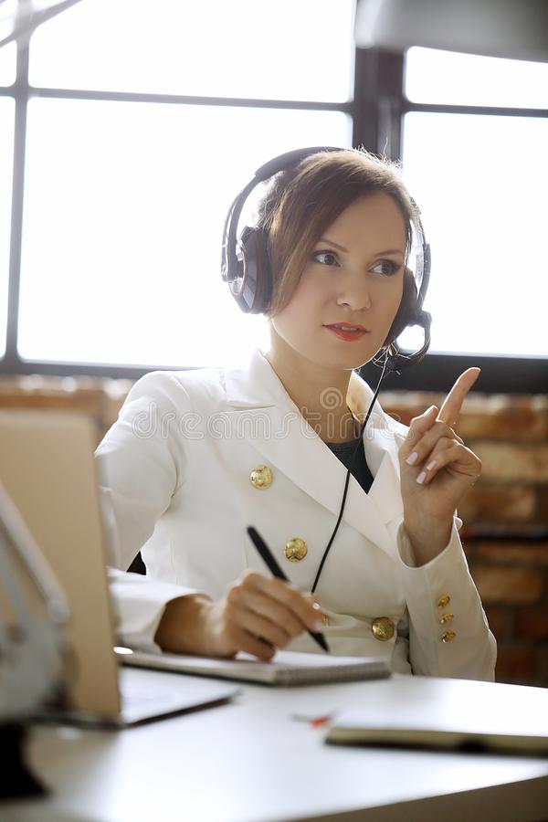 Dispatcher at work royalty free stock photography