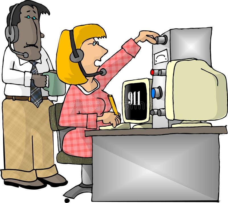 Download Dispatchersnödläge stock illustrationer. Illustration av dispatcher - 29901