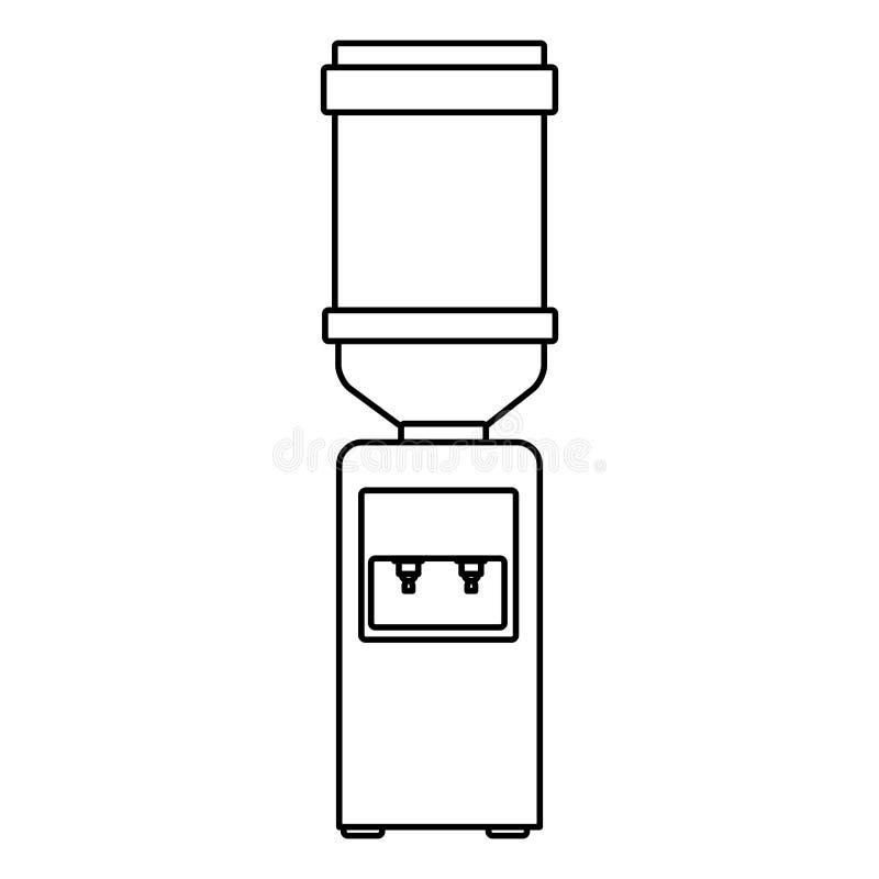 Dispensador del agua de la decoración de los muebles libre illustration