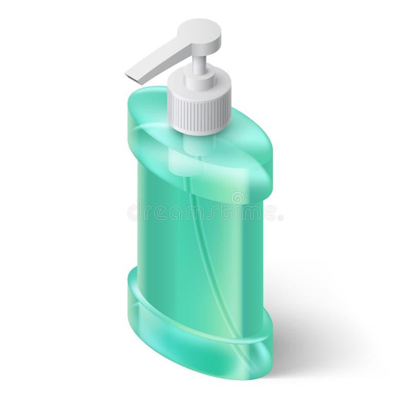 Dispensador del jabón líquido stock de ilustración