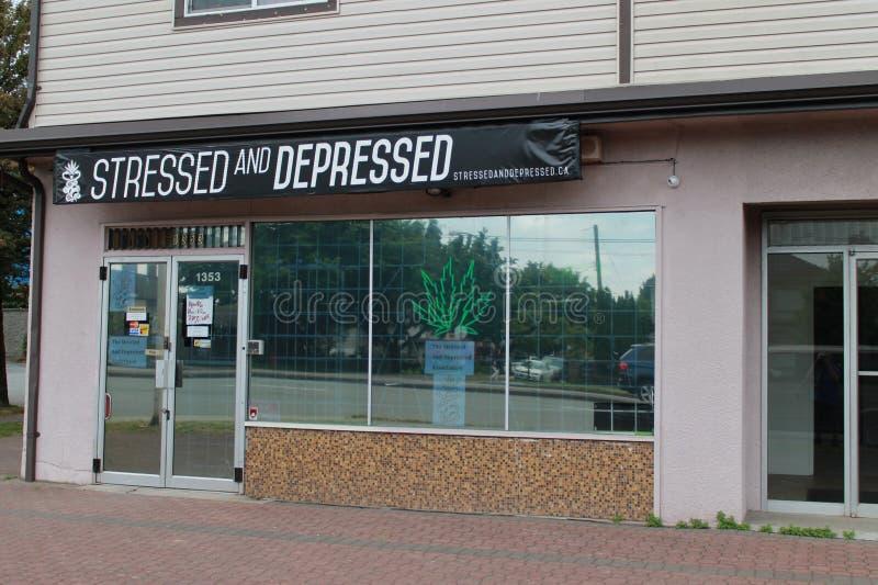 Dispensario della marijuana fotografie stock libere da diritti