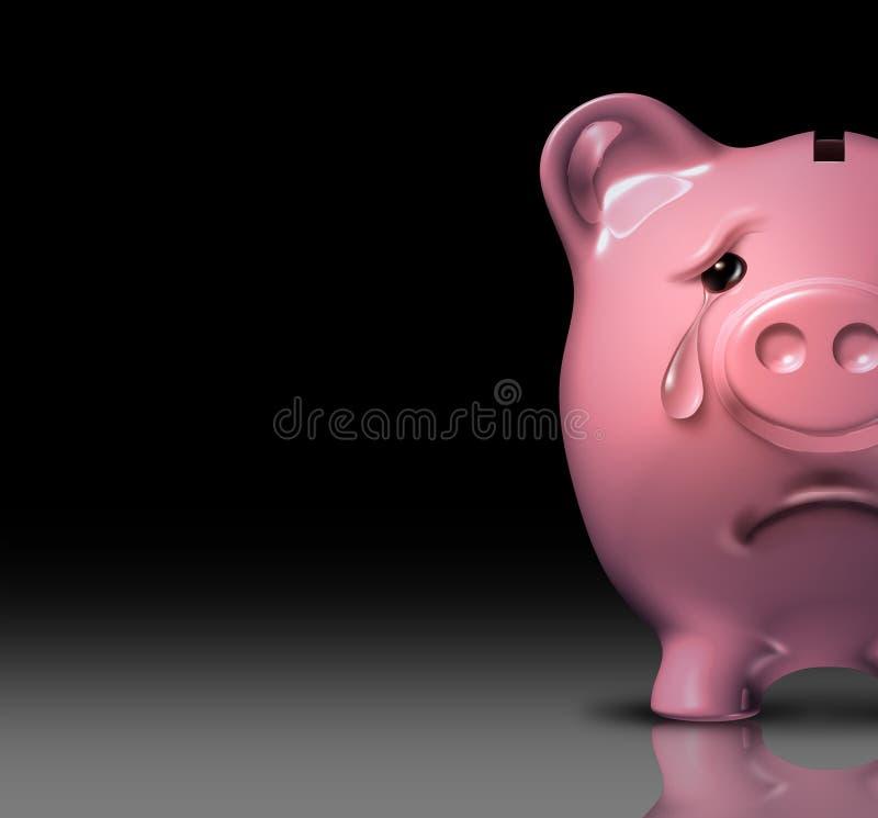 Disperazione finanziaria royalty illustrazione gratis