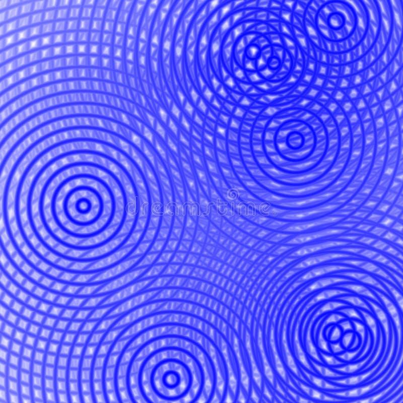 Dispersão no azul, fundo ilustração do vetor