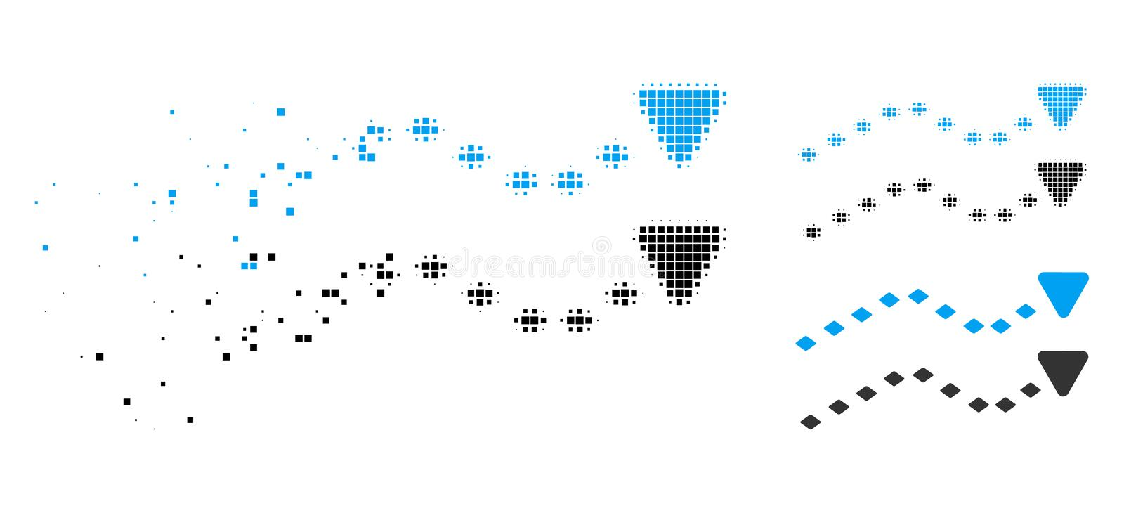 Dispersed Dot Halftone Dotted Trends Icon stock illustration