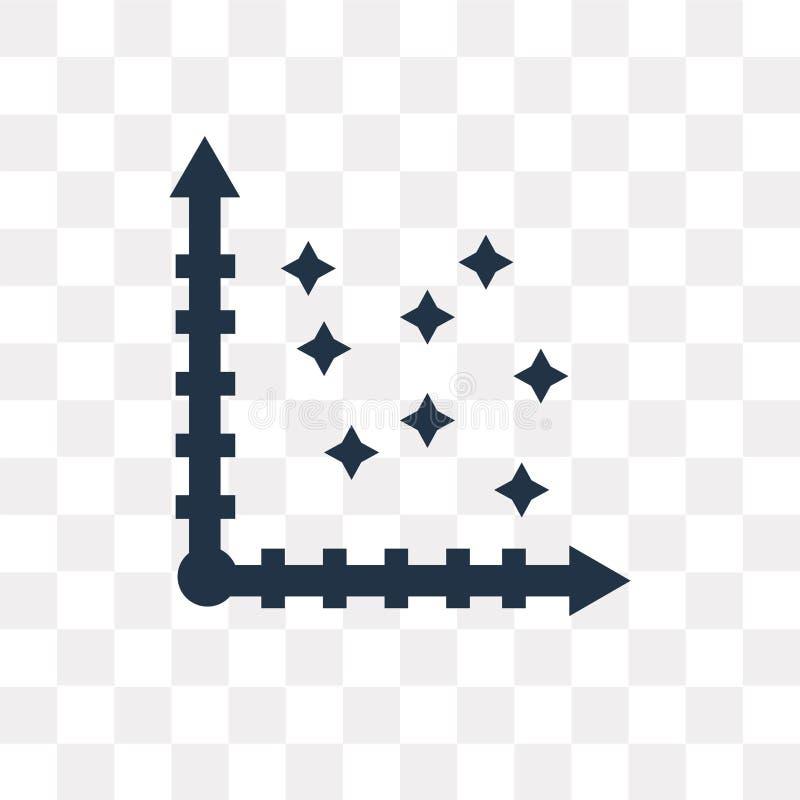 Dispersez l'icône de vecteur d'isolement sur le fond transparent, dispersion illustration stock