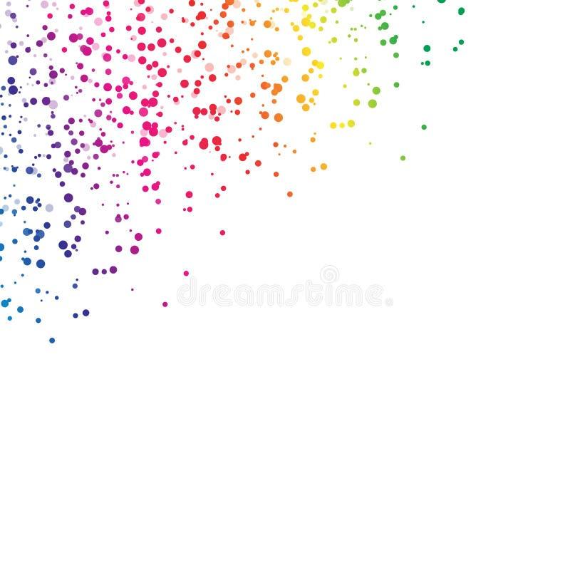 Dispersion de gouttelette de taches éclaboussant la chute de concept d'arc-en-ciel de spectre illustration stock