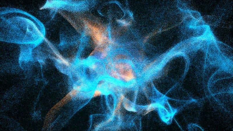 Dispersion de petites particules lumineuses Fond abstrait coloré illustration stock