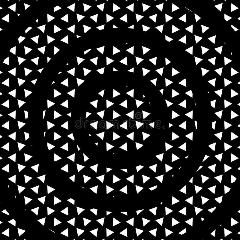 Dispersion de triangle avec le vecteur noir IL de fond d'abrégé sur rayon illustration libre de droits