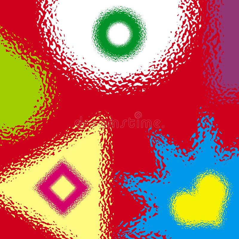 Dispersion et gouttes illustration de vecteur