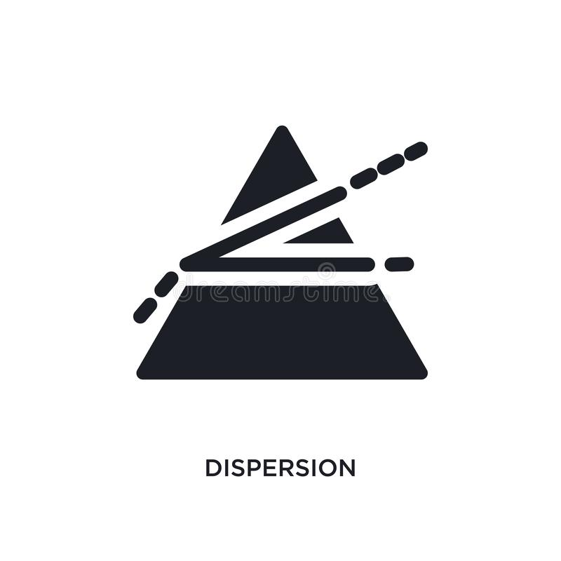dispersion isolated icon. simple element illustration from science concept icons. dispersion editable logo sign symbol design on stock illustration