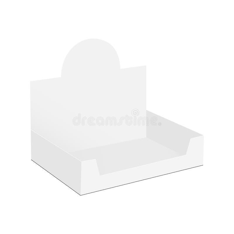 Display box mock up - half side view. Vector illustration stock illustration