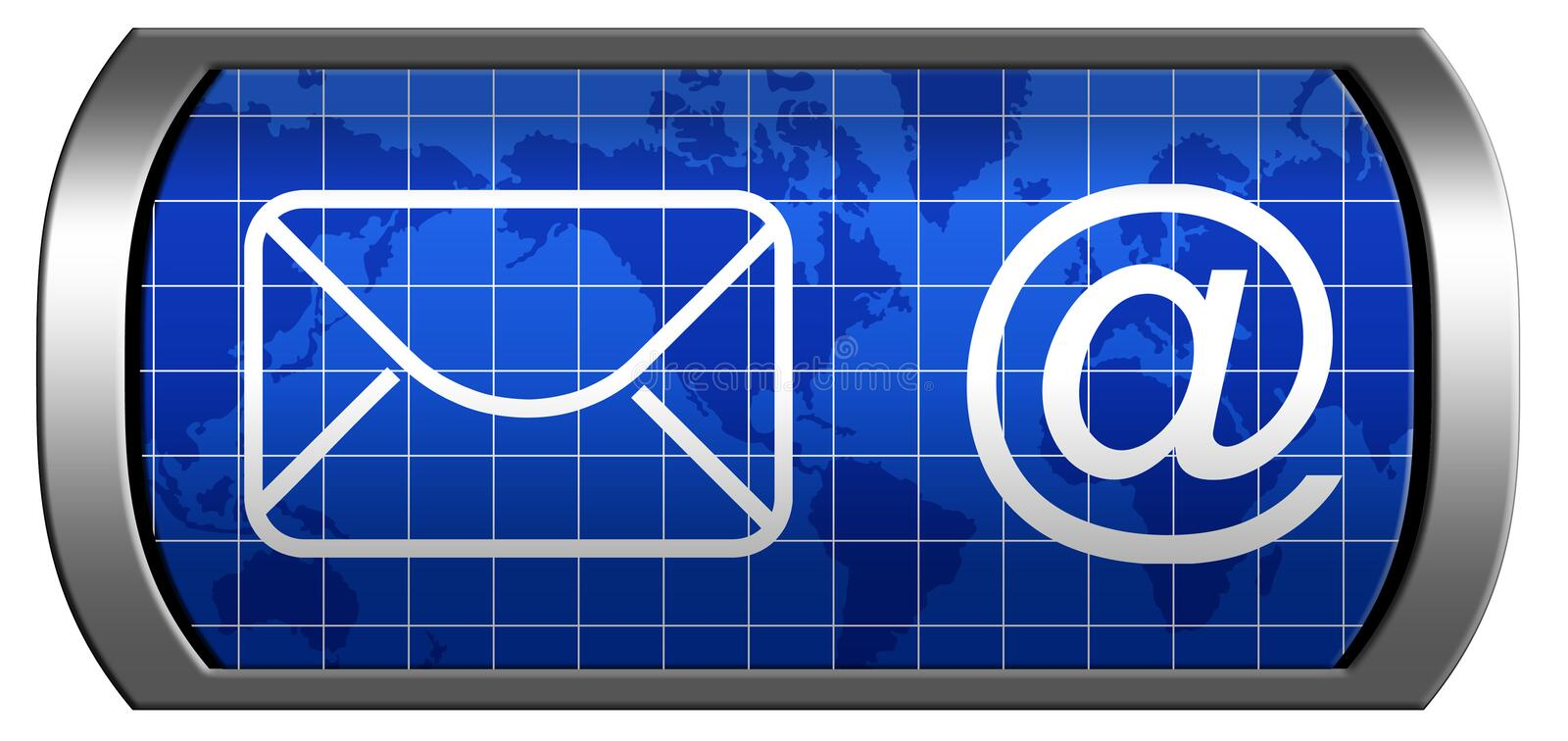Display with Dowlnload sign stock illustration