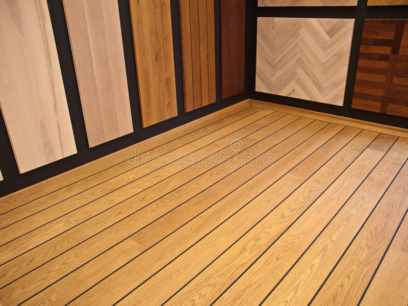 Display Of Hardwood Parquet Floors Royalty Free Stock Images