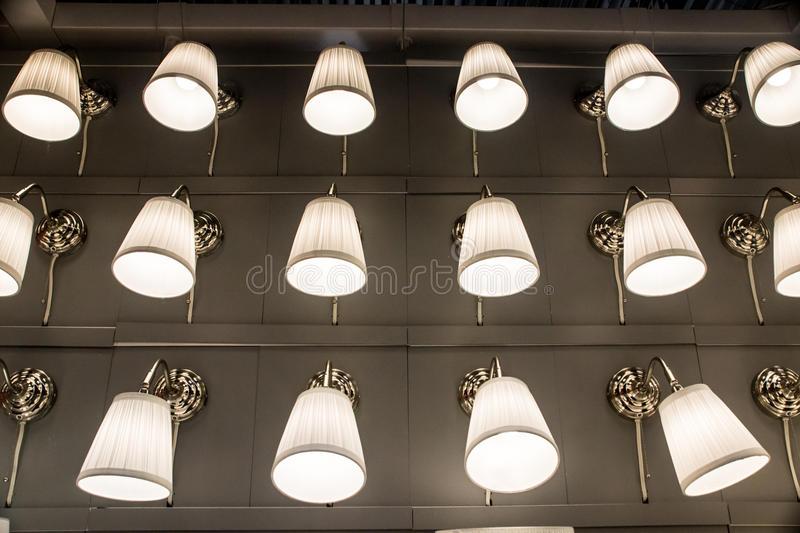 Display of Lamps and Shades stock photo