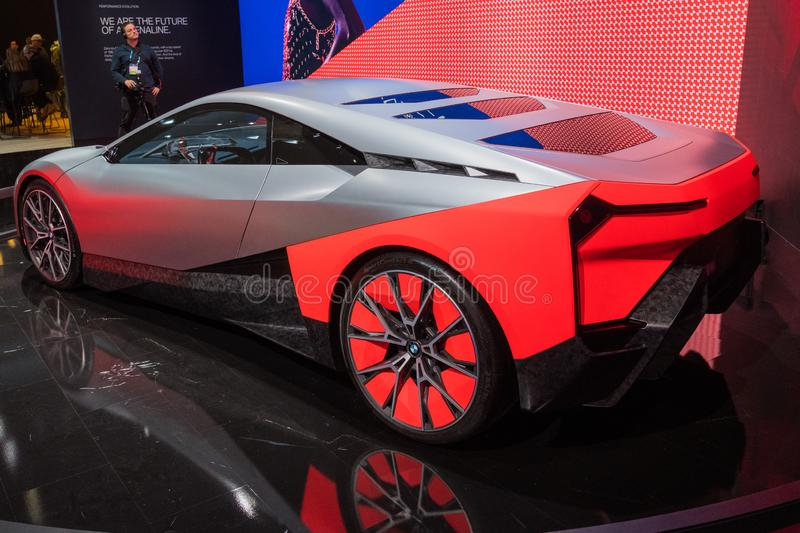 On display during Los Angeles Auto Show stock image