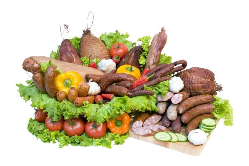 display meat vegetable στοκ εικόνες