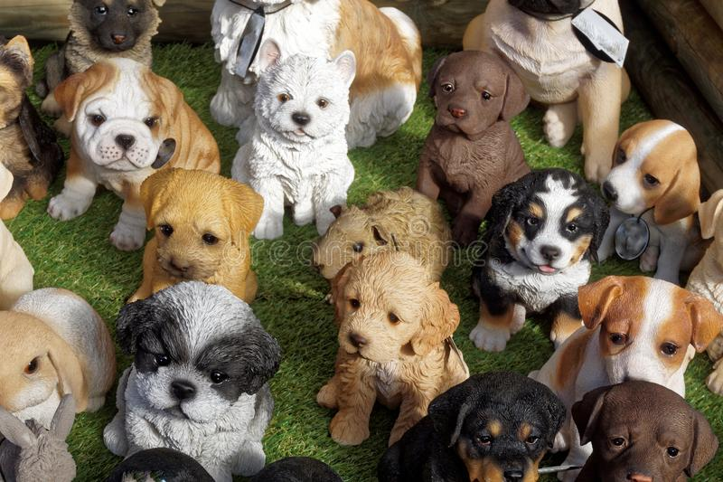 Display of Model Dogs stock photo
