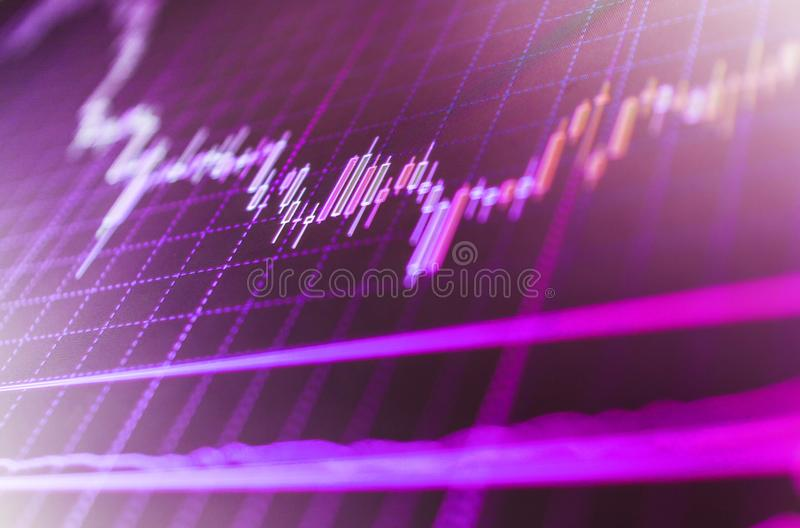 Display of quotes pricing graph visualization. royalty free stock photography