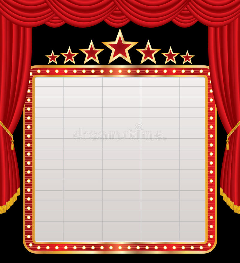 Display on red stage royalty free illustration