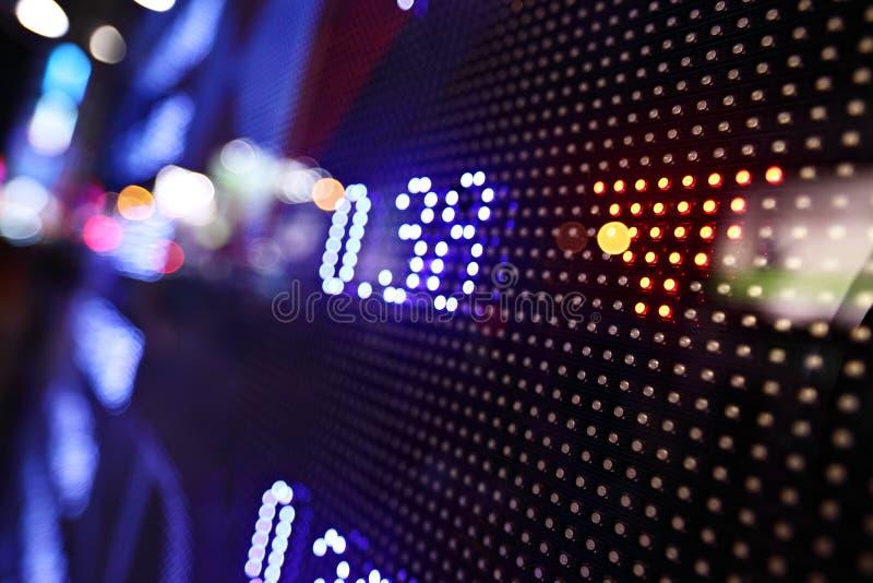 Display of Stock market quotes stock photos