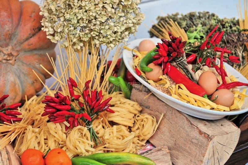 Display of tasty Italian food royalty free stock photos