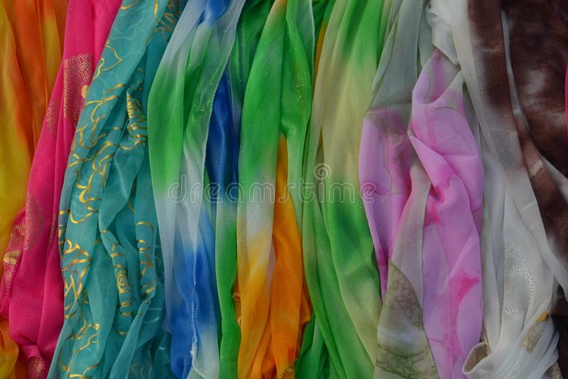 Fabrics in Chongquin, China royalty free stock photos