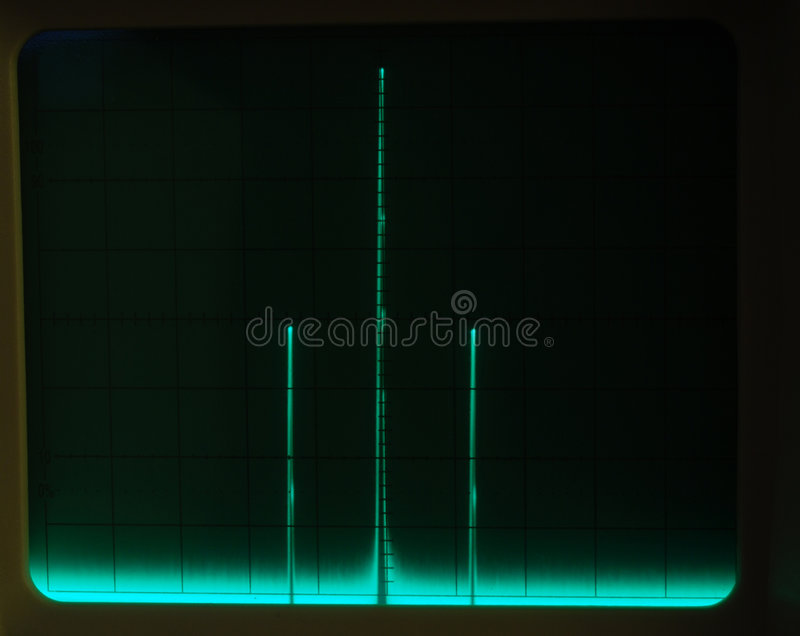 Display of Waveforms royalty free stock photos