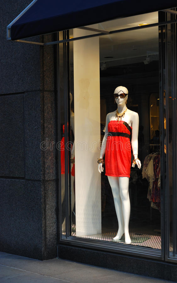 Display Window From A Clothing Store Stock Image