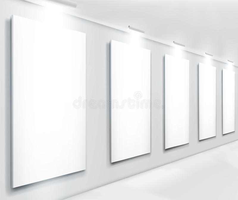 Download Displays In Gallery. Vector Illustration. Stock Image - Image: 19468341