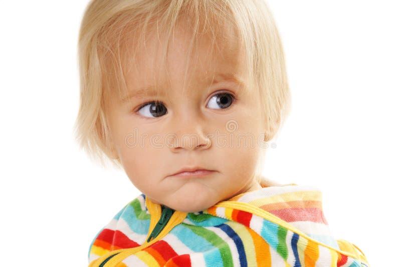 Displeased ребёнок Стоковое Изображение