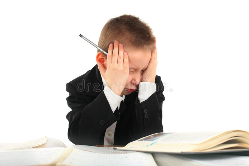 Displeased Schoolboy Stock Images
