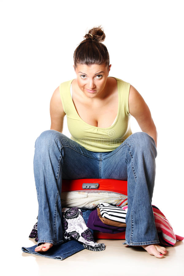 Download Displeased traveler stock photo. Image of leisure, angry - 18394582